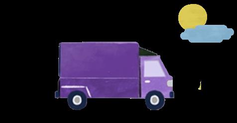 컬리배송트럭이미지